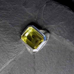 Lemon Topas Ring Eckig