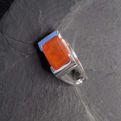 Karneol Ring Eckig
