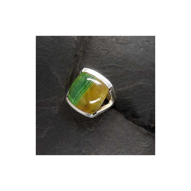 Fluorit Ring Eckig