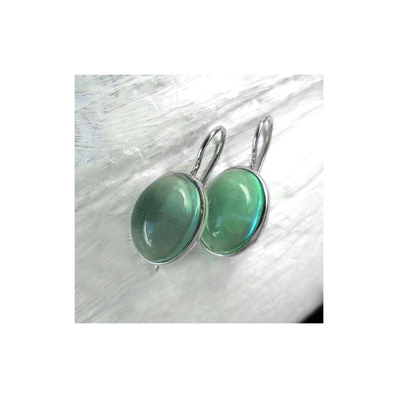 Ohrringe mit Grünem Fluorit