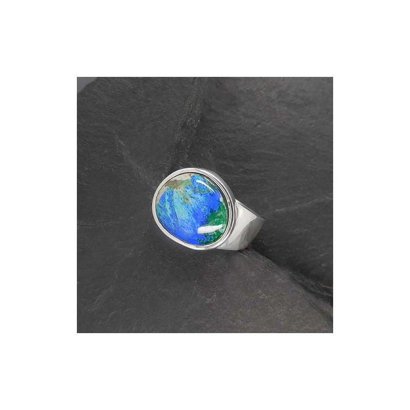 Azurit-Malachit Ring