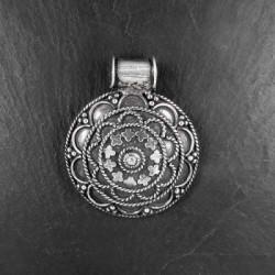 Silber-Anhänger Rund Mandala