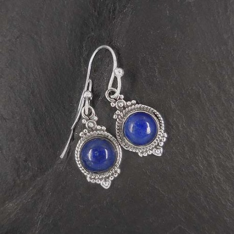 Lapis Lazuli - Ohrringe Rund