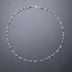 Mondsteinkette mit Labradorit, Hämatit und Silber